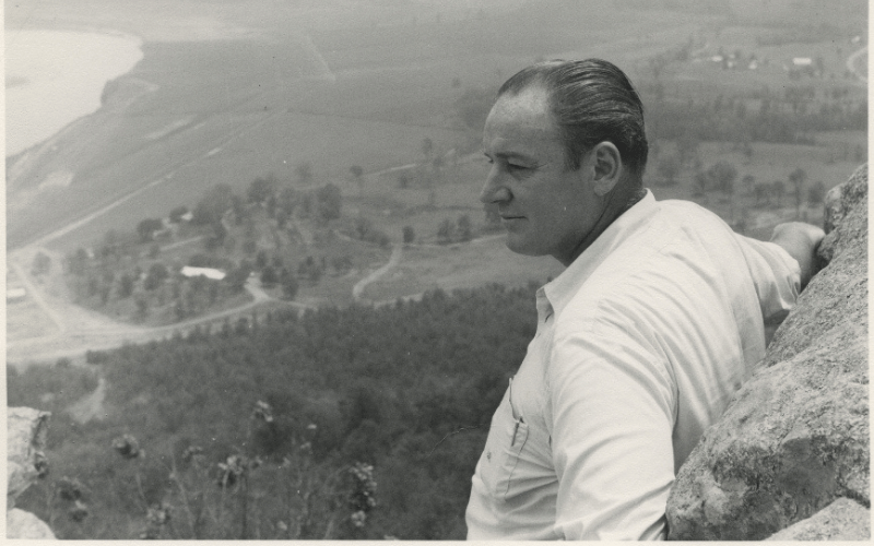 Winthrop Rockefeller Looking out over the land in Arkansas