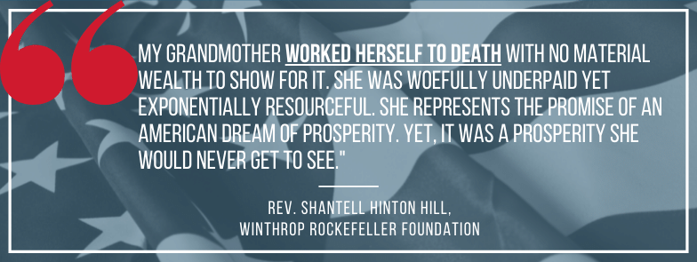 My grandmother worked herself to death with no material wealth to show for it QUOTE